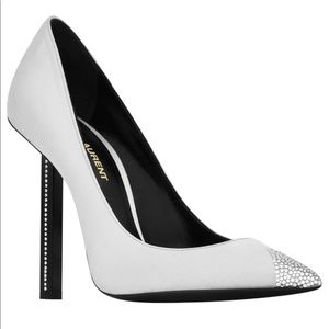 Saint Laurent Pumps Tower 110 Satin Crystalline